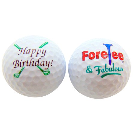 (Happy 40th Birthday ForeTee & Fabulous Set of 2 Golf Ball Golfer Gift Pack)