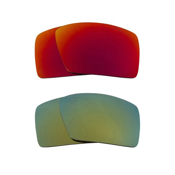 84f7d62e22 Seek Optics - Eyepatch 2 Replacement Lenses Red   Green by SEEK fits OAKLEY  Sunglasses - Walmart.com