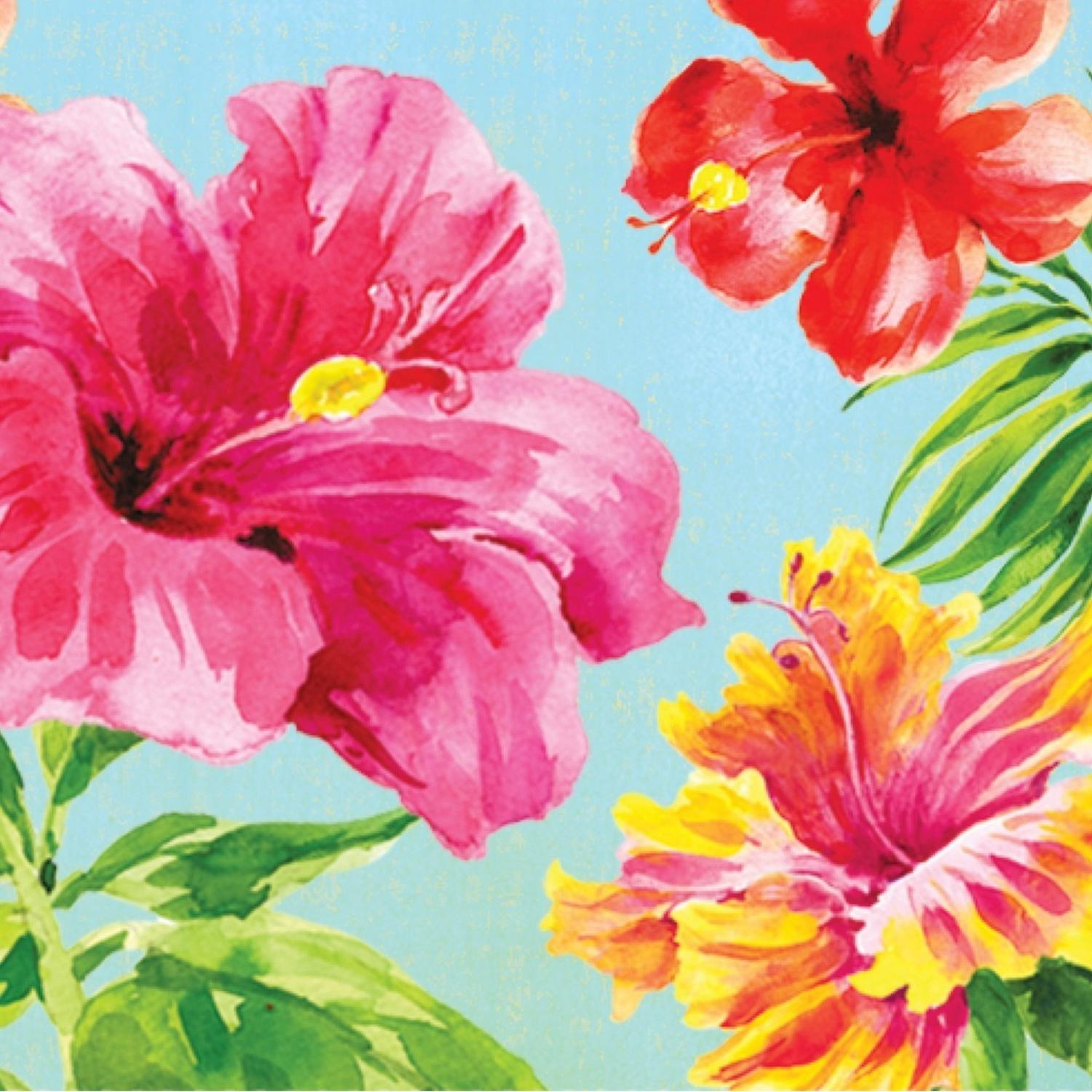 """Club Pack of 216 Heavenly Hibiscus Disposable 2-Ply Beverage Napkins 5"""""""