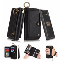 Dteck Samsung Galaxy S10+ Case,Multifunction Premium PU Leather Card Slot Wallet Cover For Samsung Galaxy S10+,Black