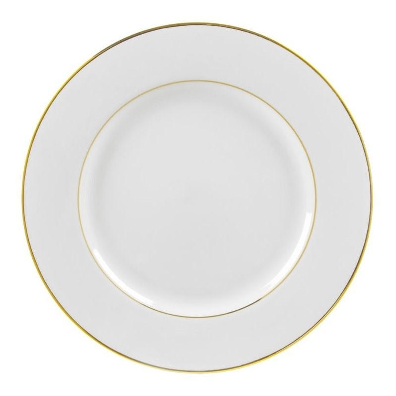 Contemporary Charger Plate in White and Gold - Set of 6