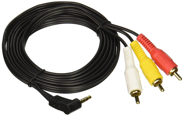 Cable Showcase 10A1-04106 6-Feet Sony JVC 3.5 mm to 3 RCA AV ...