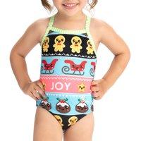 Dolfin Little Dolfins Sweater Party Print Swimsuit, Multiple Sizes