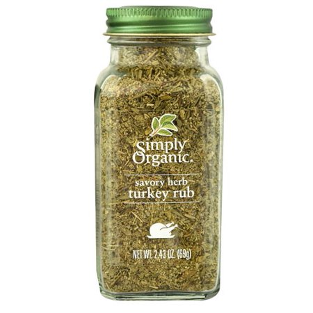 Simply Organic Savory Herb Turkey Rub, 2.43 Oz