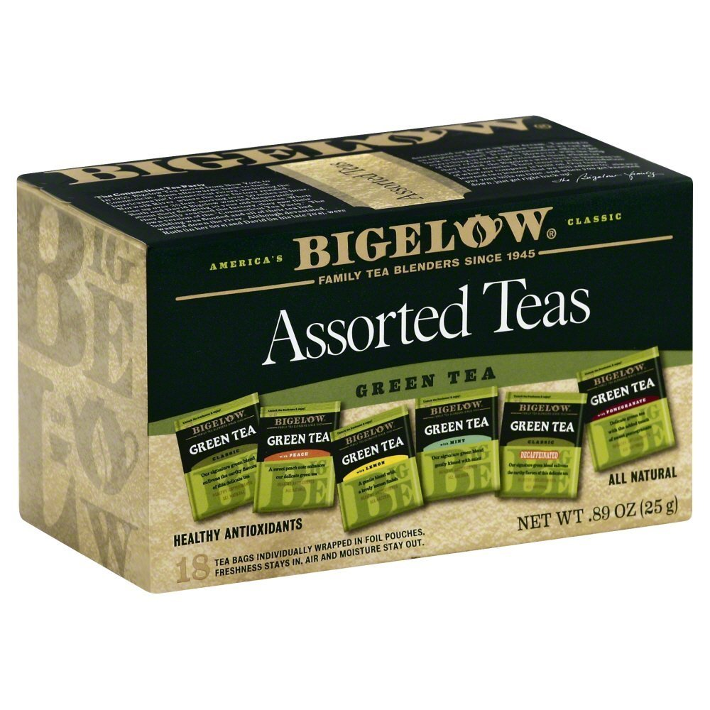 Bigelow Assorted Green Teas, 18 CT (Pack of 6)