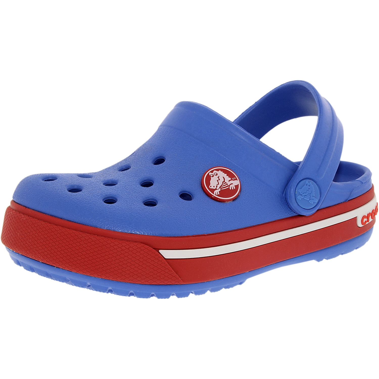 Crocs Boy's Kids Crocband II.5 Varsity Blue Red Ankle-High Rubber Sandal 4M by Crocs