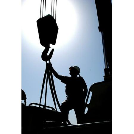 LAMINATED POSTER Ship Outside Man Silhouette Kuwait Nature Crane Poster  Print 11 x 17
