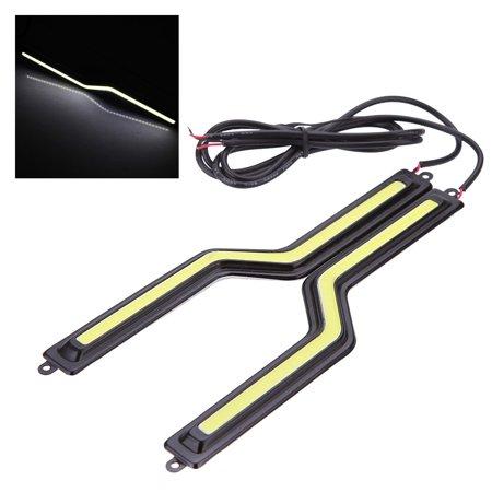 2pcs 12V Super Bright Car COB LED Lights DRL Fog Driving Lamp Water- resistant -