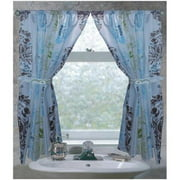 """""""Olivia"""" 100% polyester fabric window curtain with two tie backs, size 54""""x34"""""""