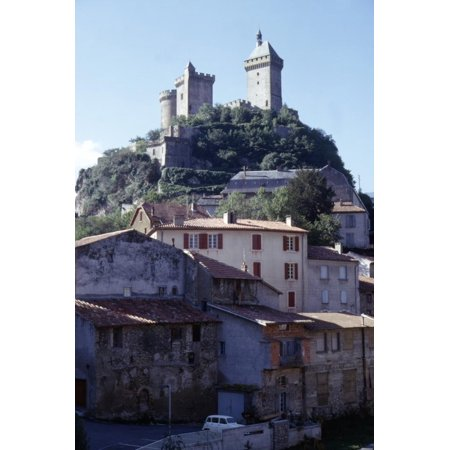 French Chateau House (Chateau de Foix and old houses, Foix, France, c20th century Print Wall Art By CM Dixon)