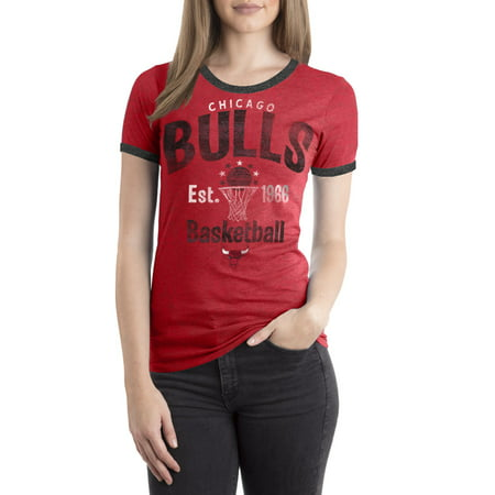 - Chicago Bulls Women's NBA Short Sleeve Biblend Crew Neck Tee