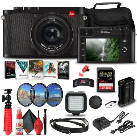Leica Q2 Digital Camera (19050) + 64GB Memory Card Bundle