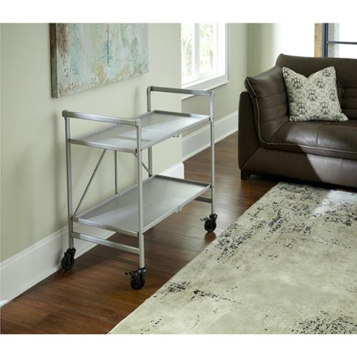 Cosco Outdoor/ Indoor Folding Serving Cart Silver