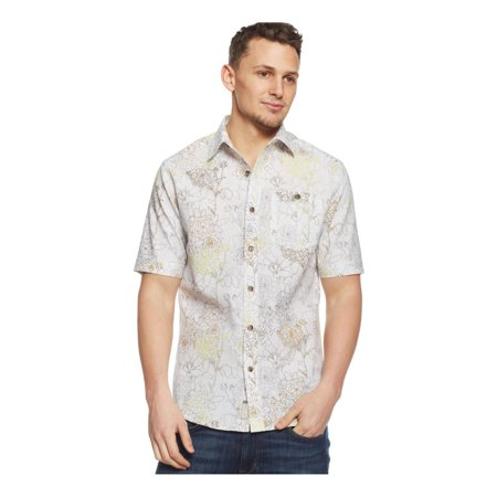 Sean john mens linen floral print button up shirt for Sean john t shirts for mens