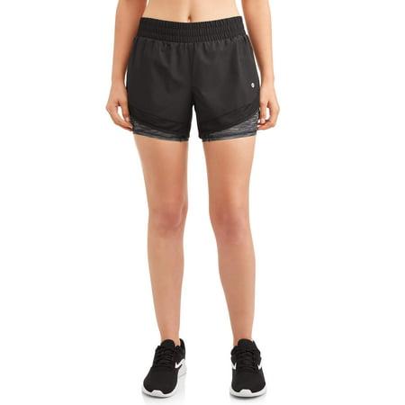 Avia Women's Core Active Woven Running Short with Bike Liner (Nike Core Woven Short)