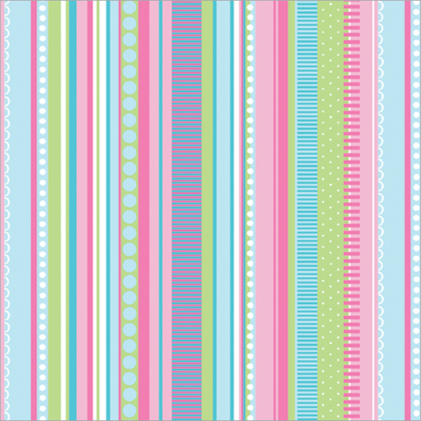 "Gift Wrap 30""X5' Roll-Pastel Stripes"