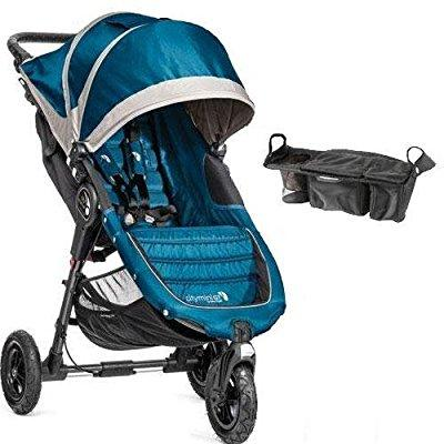 Baby Jogger city mini gt single stroller with parent console - teal gray