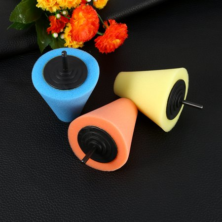 1PC Foam Polishing Cone Shaped Buffing Pads for Wheels - Use with Power Drill,Sponge Cone Polishing Foam Pad(3 Colors Optional)