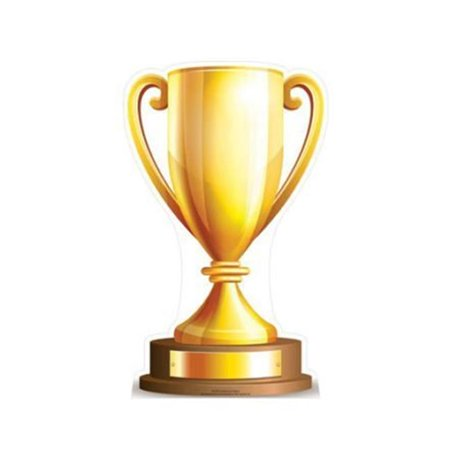 Star Cutouts SC875 90 x 55 in. Small Champions Trophy Star Mini Cardboard Cutout - All Star Trophy