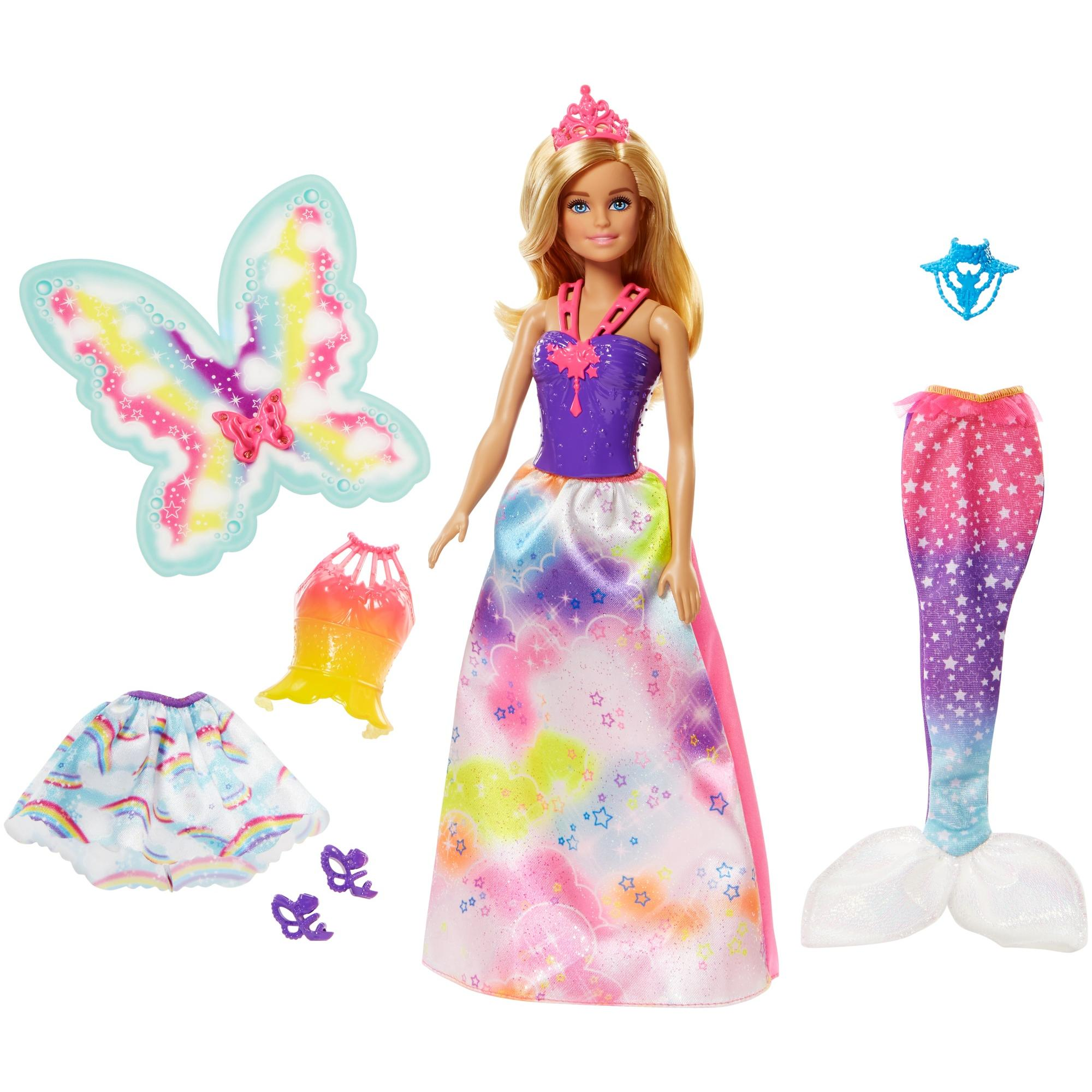 Barbie Dreamtopia Rainbow Cove Dress Up Outfit Giftset