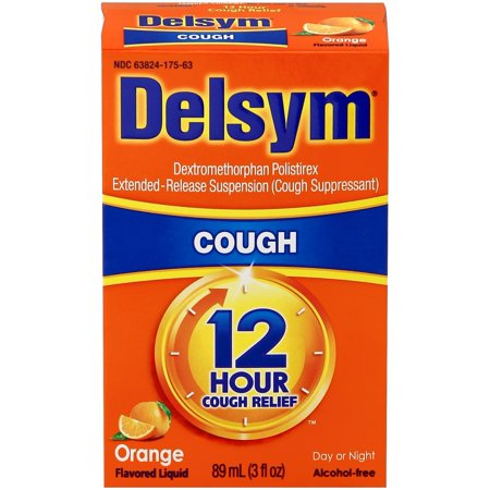 Relief Package - Delsym Adult 12 Hr Cough Relief Liquid, Orange, 3oz