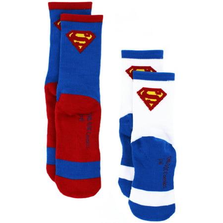 DC Comics Superman Boys 2 pack Athletic Socks Set SM1569 - Super Man Socks