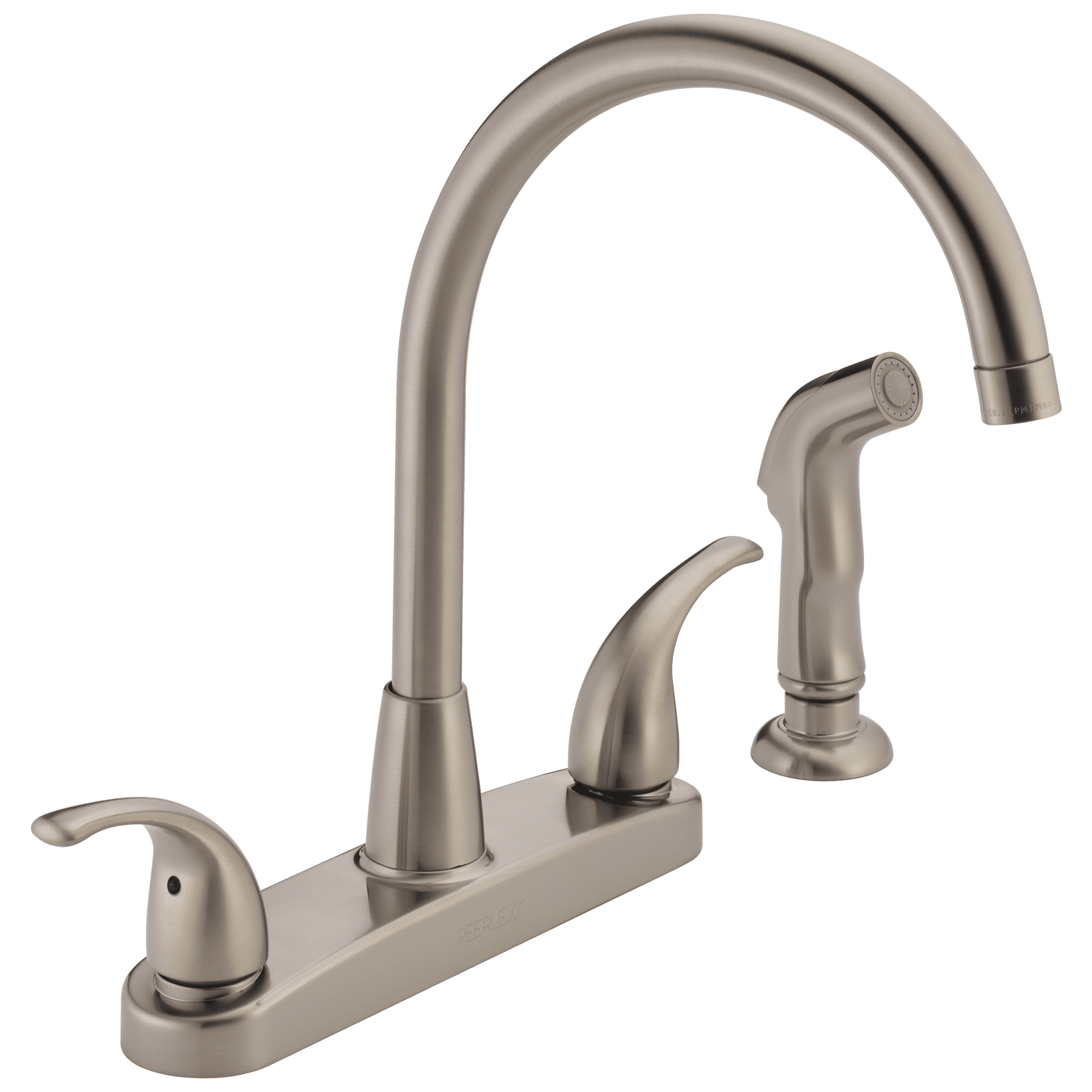 Peerless Tunbridge Two Handle Deck-Mount Kitchen Faucet in Stainless P299578LF-SS