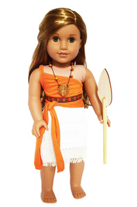 My Brittany's Moana Outfit for American Girl Dolls- 18 Inch Doll Clothes by