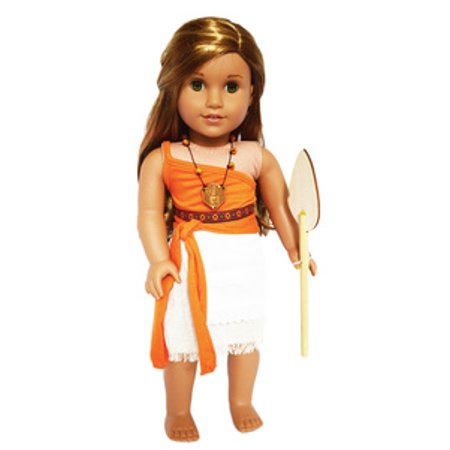 My Brittany's Moana Outfit for American Girl Dolls- 18 Inch Doll Clothes - Princess Jasmine Inspired Outfit
