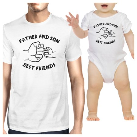 Father And Son Best Friends White Matching Shirts Father's Day (Birthday Gift For Dad From Baby Girl)