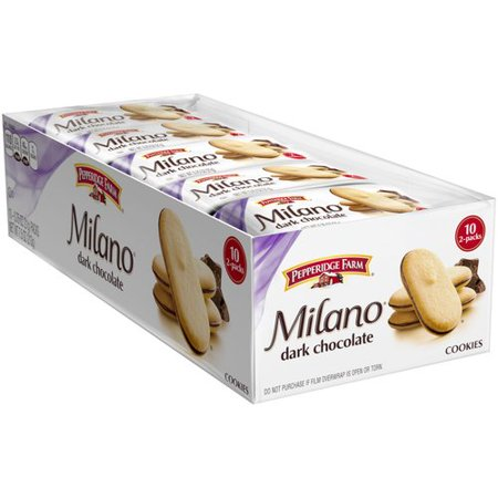 Pepperidge Farm Milano Dark Chocolate Cookies Packs   10 Ct