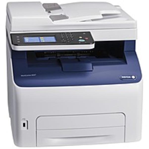 Refurbished Xerox WorkCentre 6027/NI LED Multifunction Printer - Color - Plain Paper Print - Desktop - Copier/Fax/Printer/Scanner - 18 ppm Mono/18 ppm Color Print - 1200 x 2400 dpi Print - Manual