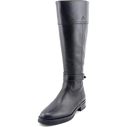 Coach Womens Eva Leather Almond Toe Knee High Riding Boots