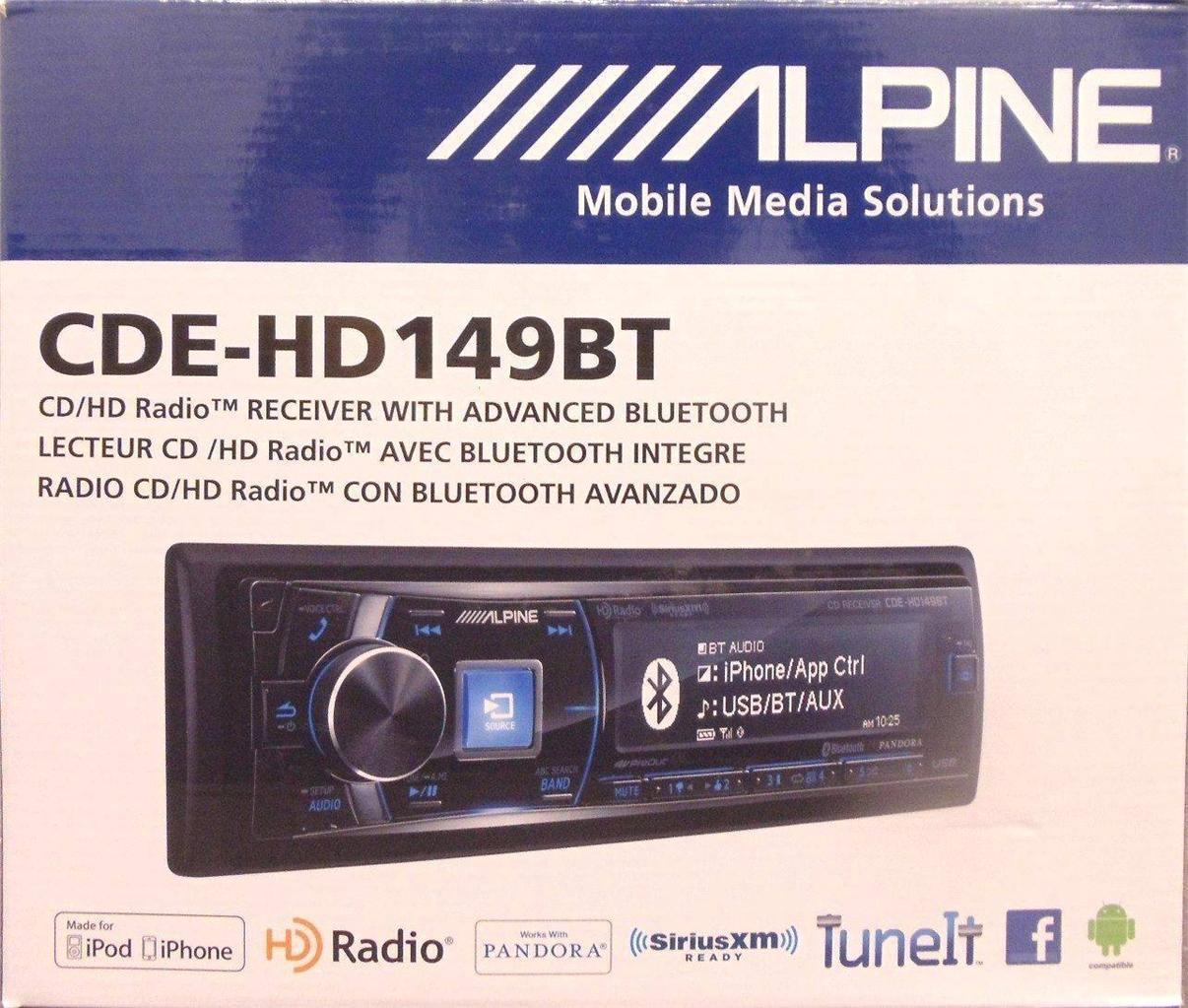 Click here to buy Alpine CDE-HD149BT MP3 USB Stereo Bluetooth,HD Radio SiriusXM by Alpine.