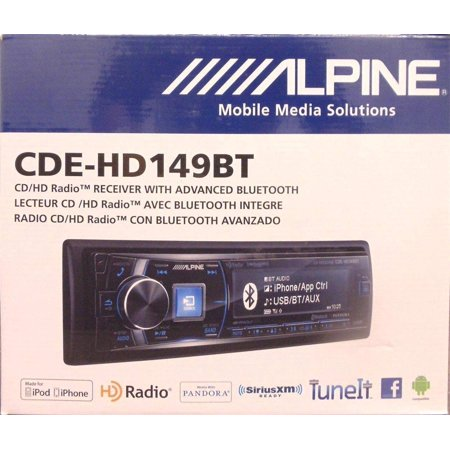 alpine cde hd149bt mp3 usb stereo bluetooth hd radio. Black Bedroom Furniture Sets. Home Design Ideas