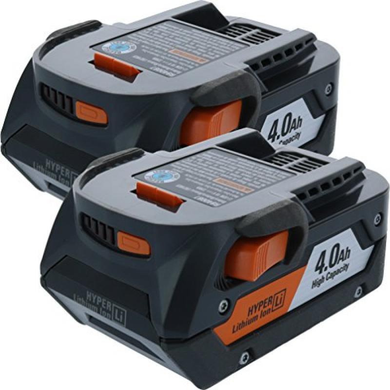 Ridgid AC840087P 18-Volt 4.0Ah Lithium-Ion Battery (2-Pac...