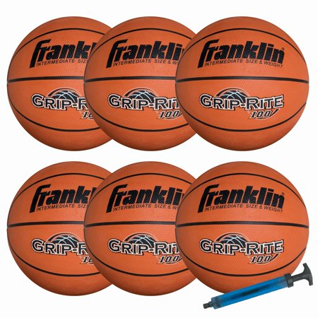 Franklin Sports Official Size Grip-Rite 100 Team Basketball Pack/Pump