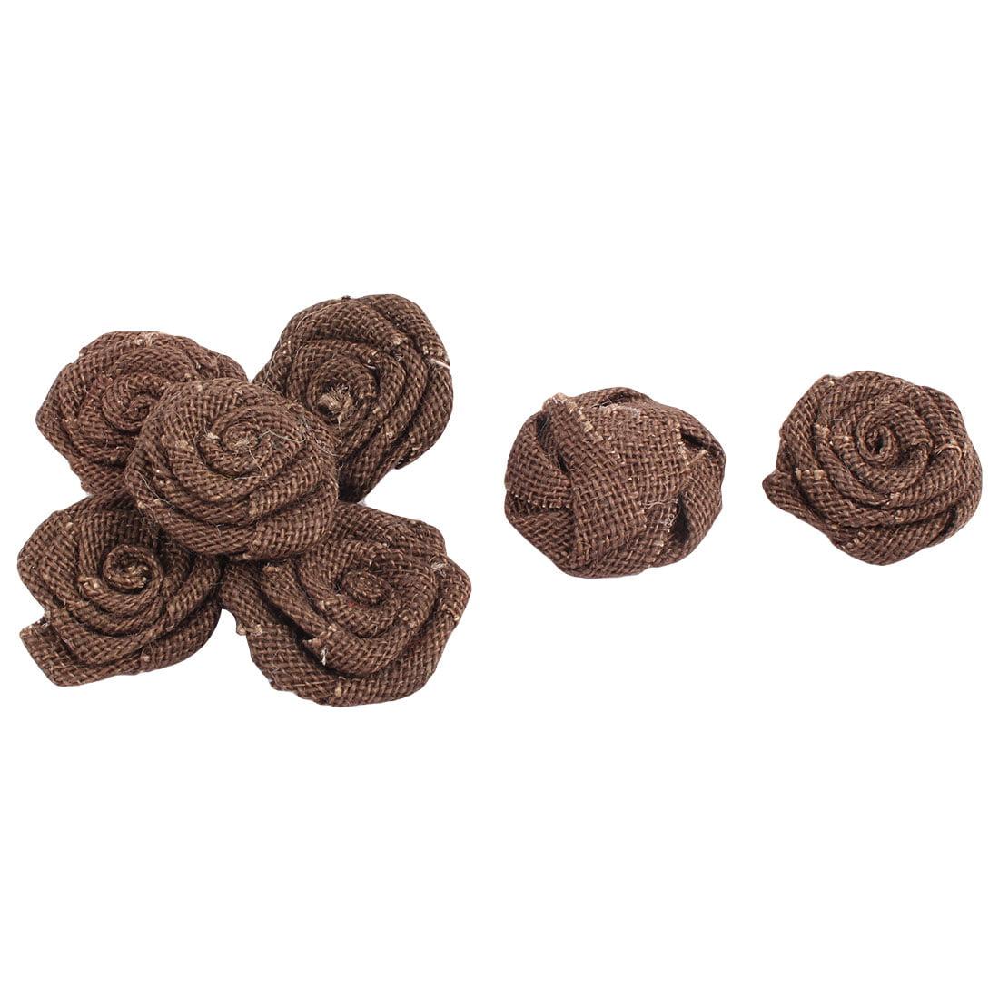 Accueil Forme rose bonbon bricolage artisanal Décoration Bo te cadeau fleur jute 7 pcs - image 2 de 2