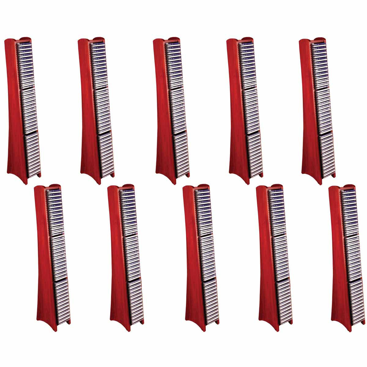 10 75 CD Rack Cherry Fin Solid Hard Wood Modern Media Sto...