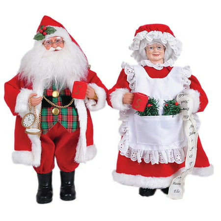 Santa S Workshop 2 Piece Mr And Mrs Claus Set Walmart Com