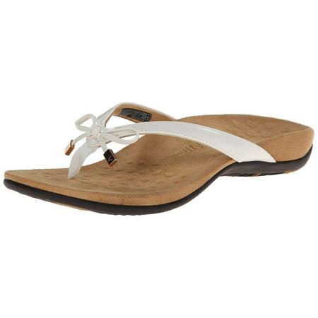 10c0e639265e Vionic - Vionic Bella II White Thong Sandals - Walmart.com