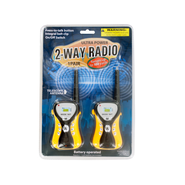 Ultra Power 2-Way Radio Set (Pack Of 1) by Bulk Buys