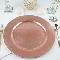 BalsaCircle 6 pcs 13-Inch Round Charger Plates - Dinner Party Wedding Supplies for all Holidays