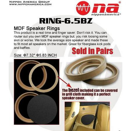 Speaker Spacer Wood Ring 1 Pair 6.5