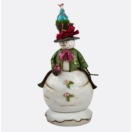 Department 56 Whimsical Enchanted Snowman with Birds Figure