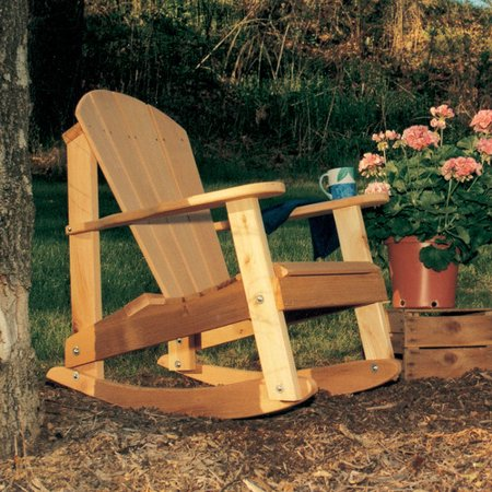 Creekvine Designs Furniture and Accessories Country Hearts Rocking Adirondack Chair ()
