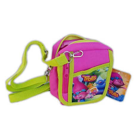 - Trolls Poppy Hot Pink Camera Pouch Bag Wallet Purse with Shoulder Strap. Size: 7