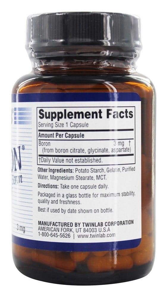 twinlab tri-boron 3 mg dietary supplement capsules - walmart, Skeleton