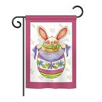 Breeze Decor Easter Basket 2-Sided Vertical Flag