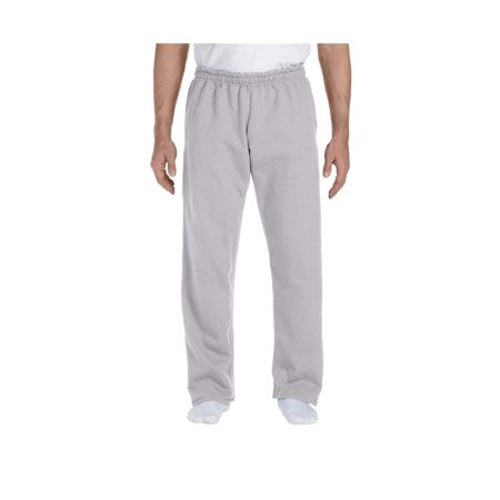 (Gildan Men's Jersey Lined Elastic Waist Open Bottom Sweatpant, Style G12300)